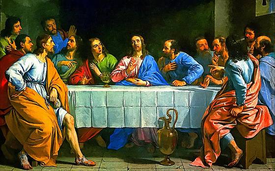 Last Supper Religion Art Painting by Andres Ramos