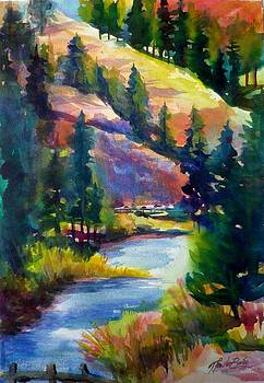 Last View of the Truckee  ORIGINAL SOLD by Therese Fowler-Bailey