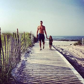 Last Walk On The Beach With Belle ;-) by Derek Kaplan
