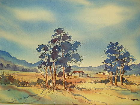Late Afternoon Bluegums and Farmhouse by Marion Langton