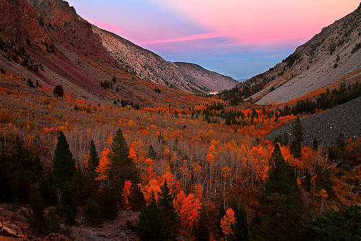 Late autumn sunset at Lundy Canyon in the Eastern Sierras by Jetson Nguyen