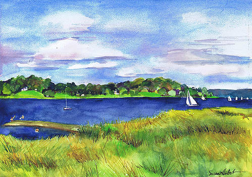Late Summer Marsh Oyster Bay by Susan Herbst