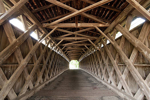 Lattice Truss Covered Bridge by John Wilke