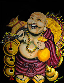 Laughing Buddha for Prosperity by Saranya Haridasan