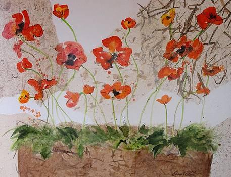 Laughing Poppies II by Elaine Elliott