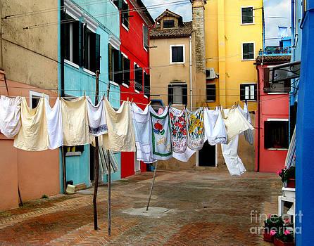 Laundry Day in Burano by Jennie Breeze