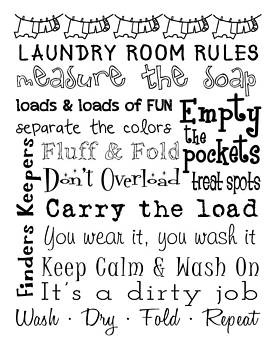 Jaime Friedman - Laundry Room Rules Poster