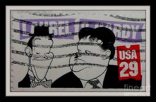 Gail Matthews - Laurel and Hardy postage stamp