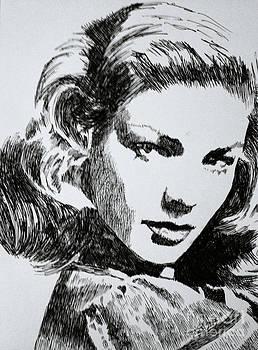 Lauren Bacall by Robbi  Musser