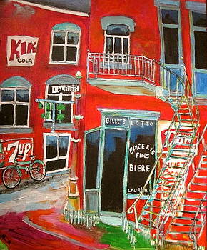 Laurier Balconies Montreal Memories by Michael Litvack