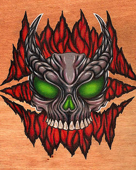 Lava Skull by Rik Hayes