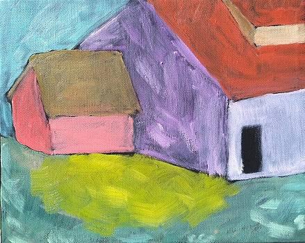 Lavender Barn in Mustard Season by Molly Fisk