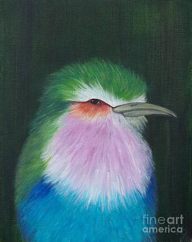 Lavender Chested Roller by Georgia Griffin