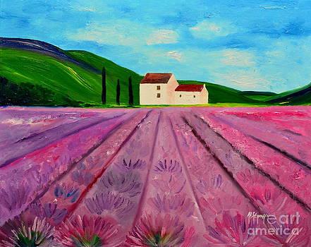 Lavender farm by Mariana Stauffer