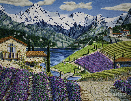 Lavender Fields by Robert Thornton