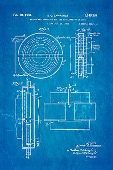 Ian Monk - Lawrence Cyclotron Patent Art 1934 Blueprint
