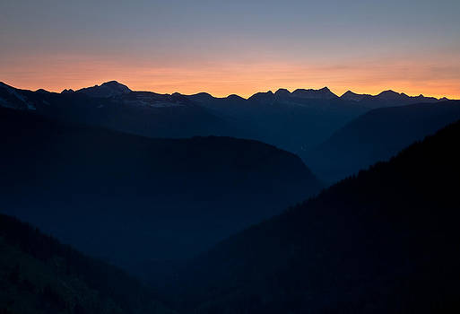 Layered Mountains at Sunset by Craig Brown
