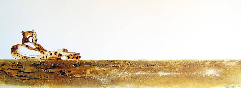 Lazy Dayz Cheetah - Original Artwork by Tracey Armstrong