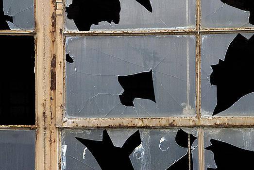 ld Broken Window Glass Bloomington Indiana 2010 by John Hanou