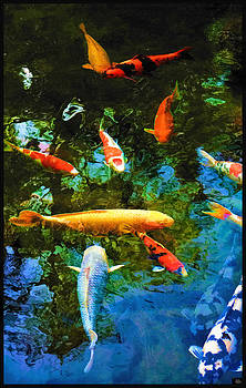 Douglas moorezart artwork for sale san diego seattle for Koi for sale san diego