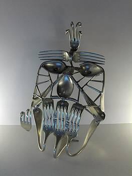 Le Masque De Fer by Dalu sculpteur Anticonformiste