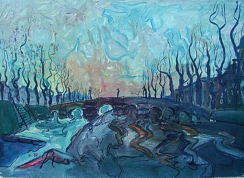 Le pont de la Guille - Original sold by Bernard RENOT