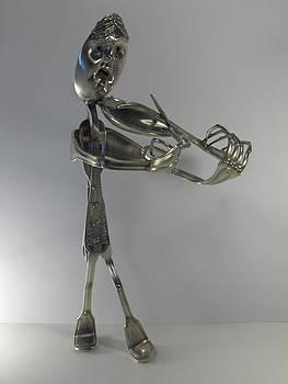 Le Violoniste by Dalu sculpteur Anticonformiste