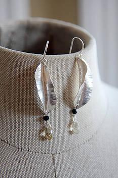 Leaf earrings by Kelly Clower