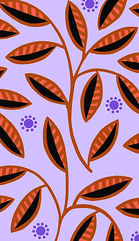 Nancy Lorene - LEAFY MOD in Lavender and Rust