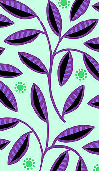 Nancy Lorene - LEAFY MOD in Mint and Purple