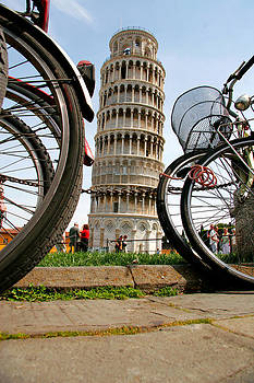 Leaning Bicycles of Pisa by Peter Tellone