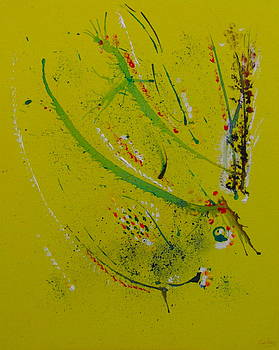 Leaping Lizard  Buzzing Bird by Francisco Sanchez Salas