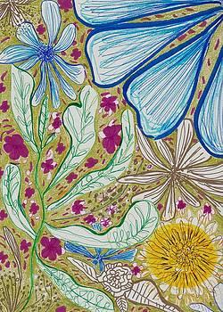 Leaves Flowers and Sun by Rosalina Bojadschijew