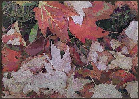 Leaves in AquaHue by Philip White