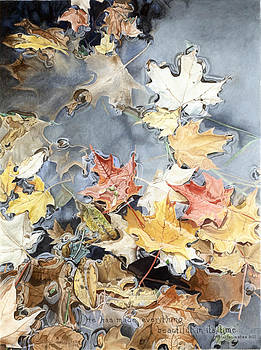 Leaves In Puddle 2 by Marshall Bannister