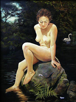 Leda On The Nidd by Jo King