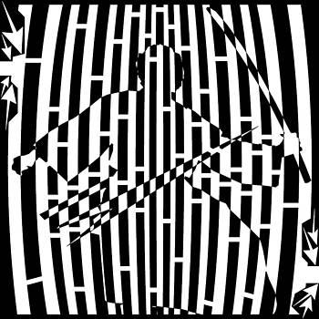 Left Handed Samurai Maze by Yonatan Frimer Maze Artist
