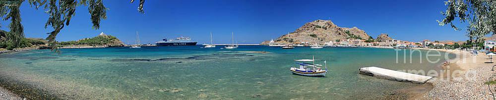 Lemnos island Greece panoramic photo by Vassilis Triantafyllidis