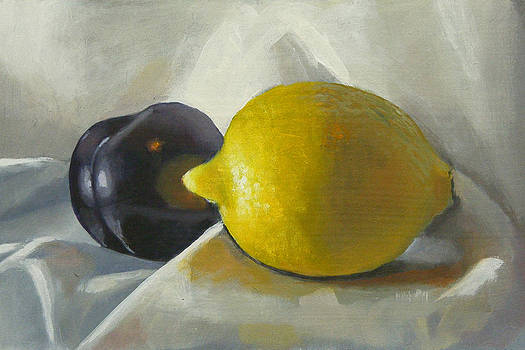 Lemon and plum by Peter Orrock