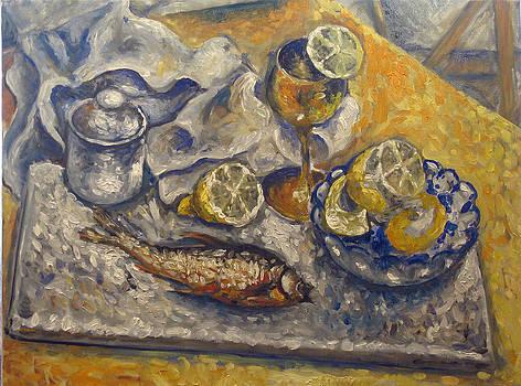 Lemons and fish  by Vladimir Kezerashvili