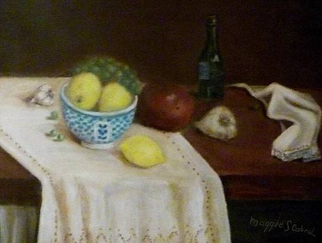 Lemons and Garlic by Maggie  Cabral