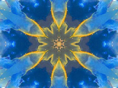 Lemurian Aquatine Calcite Mandala by Diane Lynn Hix