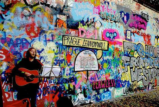 Lennonwall Prague by Mary Barrett