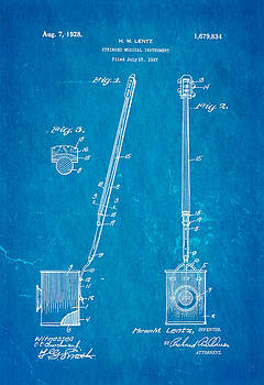 Ian Monk - Lentz Jug Band Instrument Patent Art 1928 Blueprint