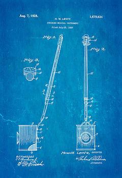 Ian Monk - Lentz Jug Band Instrument Patent Art 1928 Blueprint