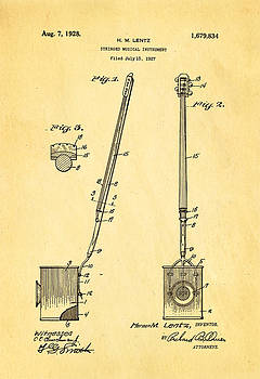 Ian Monk - Lentz Jug Band Instrument Patent Art 1928