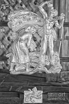 Ian Monk - Leo Zodiac Sign - St Vitus Cathedral - Prague - Black and White