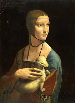 Lady With An Ermine Portrait of Cecilia Gallerani by Masterpieces Of Art Gallery