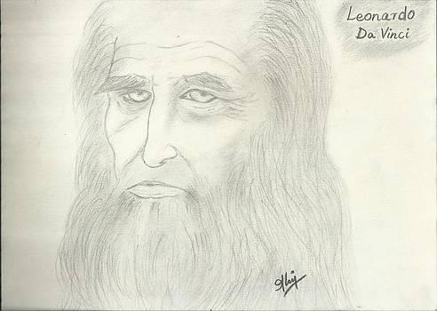 Leonardo Da Vinci by Saleem Baig