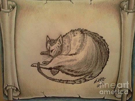 Leonardo Di Vincis The Sleeping Cat by Neil Coffey